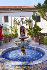 Mexico Tile Fountain Mission San Buenaventura Ventura California