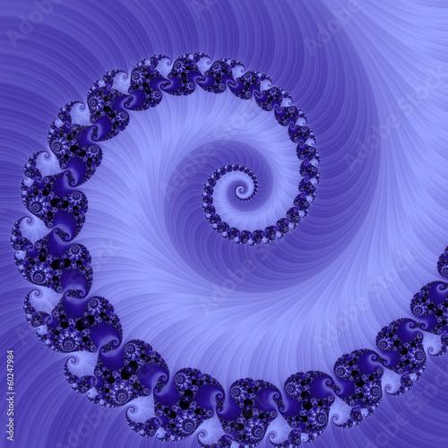 Papiers peints Spirale spirale astratta viola frattale