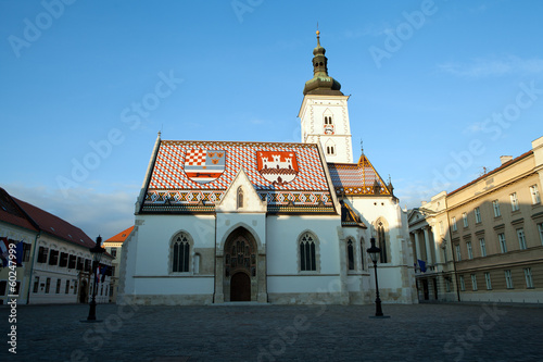 St Mark's Church built in 13th-century in Zagreb, Croatia