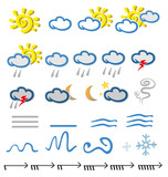 meteorology  icons element on white background