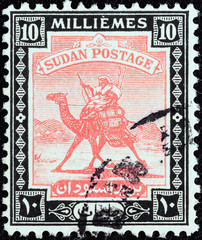 Arab Postman on camel (Sudan 1921)