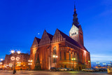 St. Nicholas Cathedral in old town of Elblag, Poland
