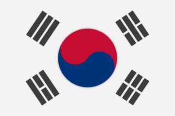 Nationalflagge Südkorea
