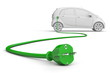 E-Car with Green Power Cable