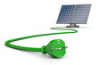 Solar Panel with Green Power Cable