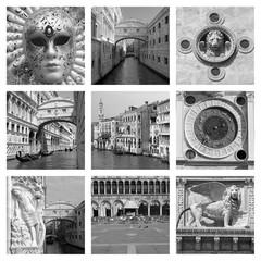 venetian landmarks collage