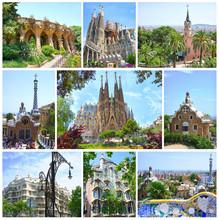 Barcelone, Espagne. Fantastique Architecture par Antoni Gaudi