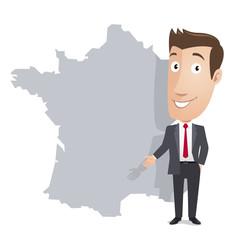 Cadre dynamique - Carte de France