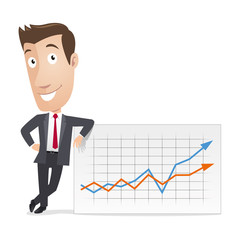 Business character - Statistics graph