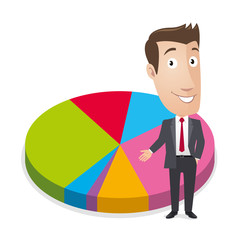 Business character - Statistic graph