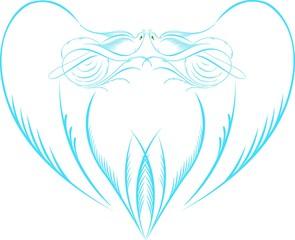 Kuş Desenli Kalp