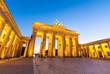 Brandenburg Gate (1788), Berlin, Germany.