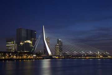 Erasmus Bridge in Rotterdam on the Nieuve-Maas River