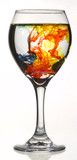 Food Coloring in Wine Glass