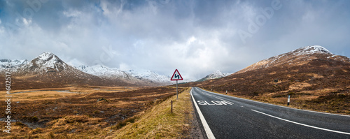 Road to Scottish Highlands