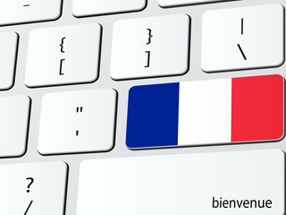 Welcome to France computer icon keyboard