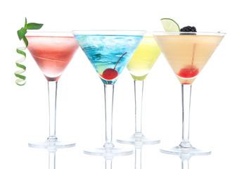 Popular alcoholic cocktails composition