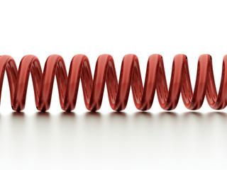Red spiral string
