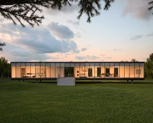 Modern House in Park