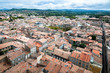 Carcassonne new and old city wide panoramic view