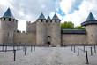 Chateaux de la cite fachade at Carcassonne