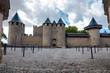 Chateaux de la cite fachade entrance at Carcassonne