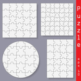 Puzzles - Isolated On Gray Background, Vector Illustration