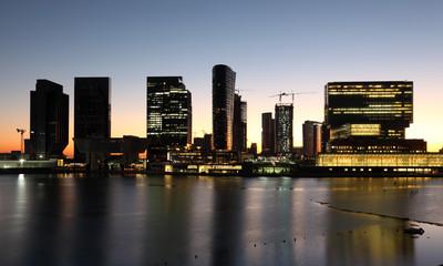 Al Maryah Island skyline. Abu Dhabi, United Arab Emirates