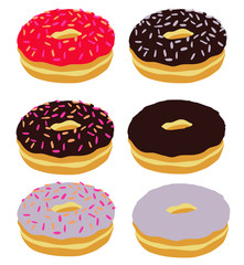 Donuts Illustration Süsswaren