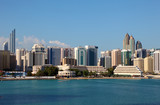 Skyline of Abu Dhabi Tourist Club area. United Arab Emirates