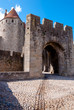 Stone street leading to Porte Narbonnaise at Carcassonne
