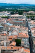 Saint Michel cathedral and Carcassonne new city view