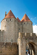 Towers at Porte Narbonnaise at Carcassonne