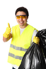 Thumbs up for recycling!