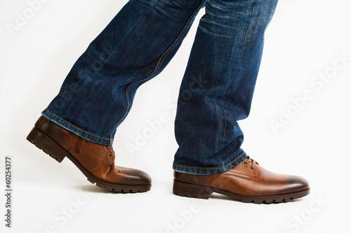 canvas print picture walking shoes
