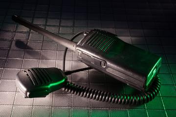 Radio with green tint