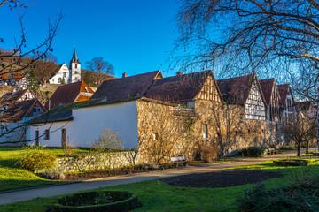 Fachwerkhäuser und Bergkirche Zwingenberg
