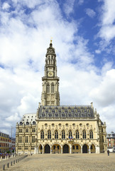 Old historic town hall in Arras. France