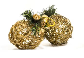 Two wattle christmas tree decoration