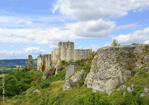 The castle Gaillard in Normandy, Les Andelys, France