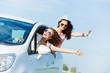 Women in car