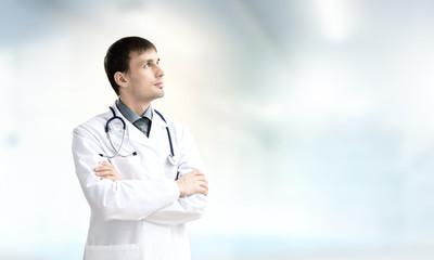 Confident doctor