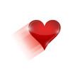 moving heart illustration design