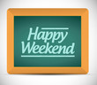 happy weekend message illustration design