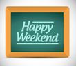 happy weekend message illustration design