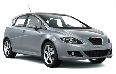 Compact silver car