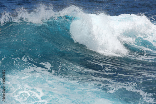 Fotobehang Golven Beautiful teal ocean waves