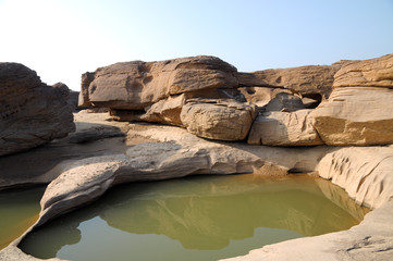 Sam pan bok,Stone in the shape of the natural beauty of the Meko
