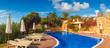 Cool blue summer holiday pool - 60257165