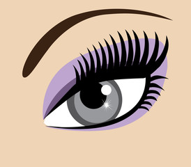vector eye with long lashes